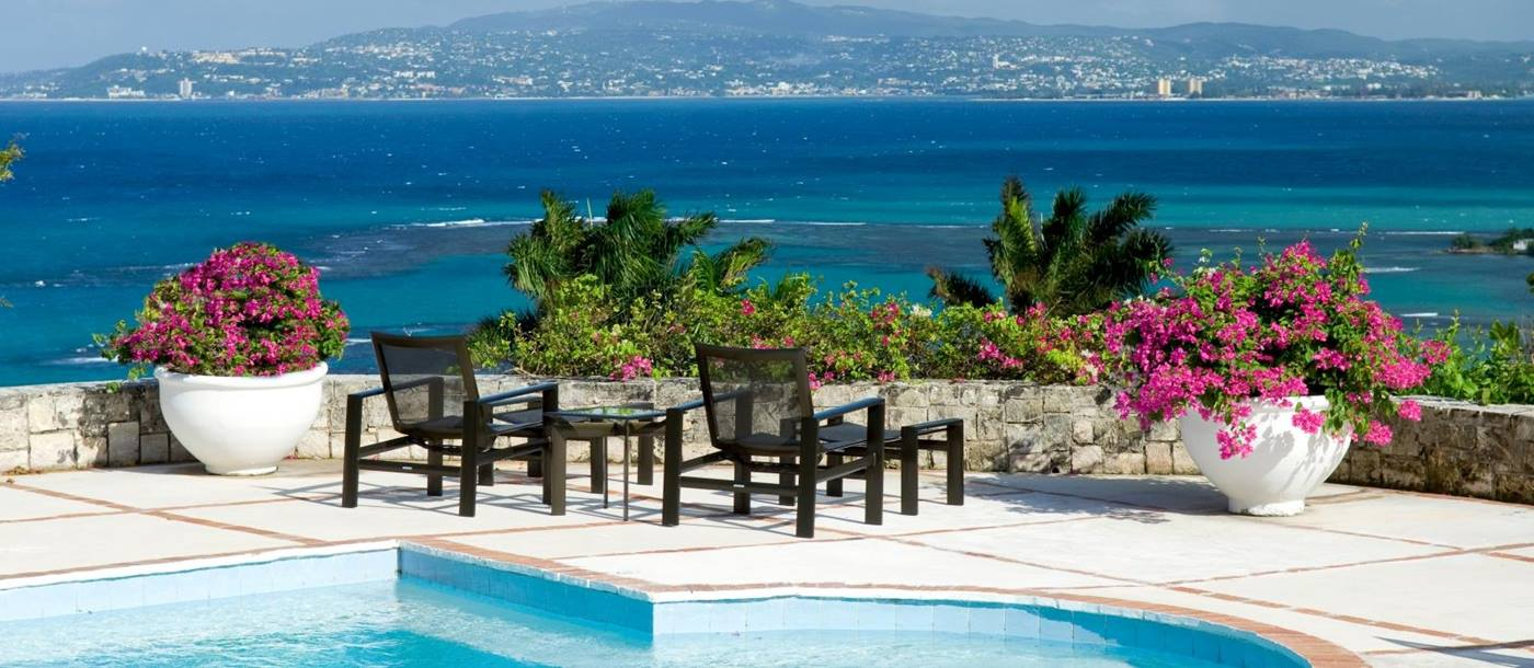 The pol and views at Longview Manor, Jamaica
