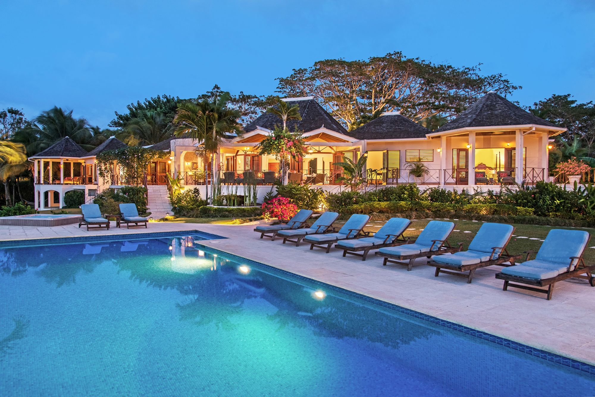 Swimming Pool And Facade Of Infinity, Jamaica