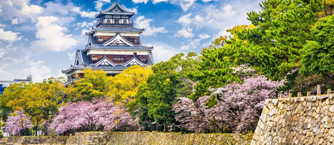 Hiroshima Castle and the Shukkei-en Strolling Gardens in Japan