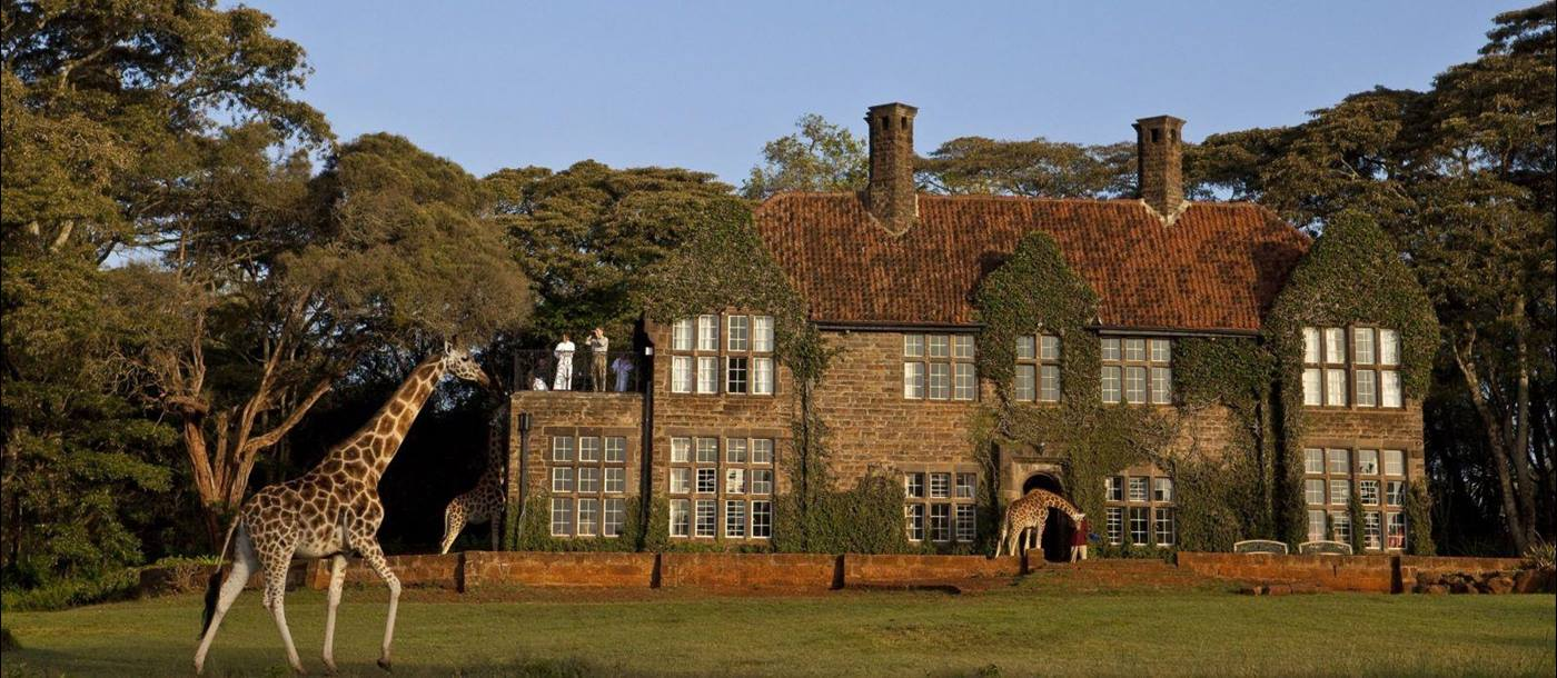Exterior view of Giraffe Manor in Kenya