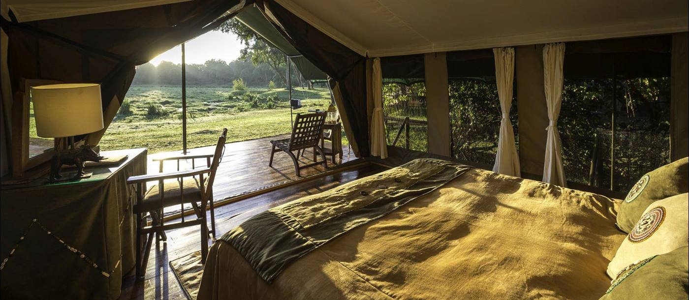 View from bedroom at Little Governors in Kenya