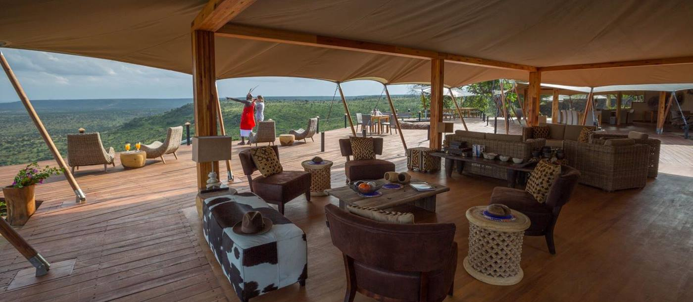 View from sitting room at Loisaba Tented Camp in Kenya