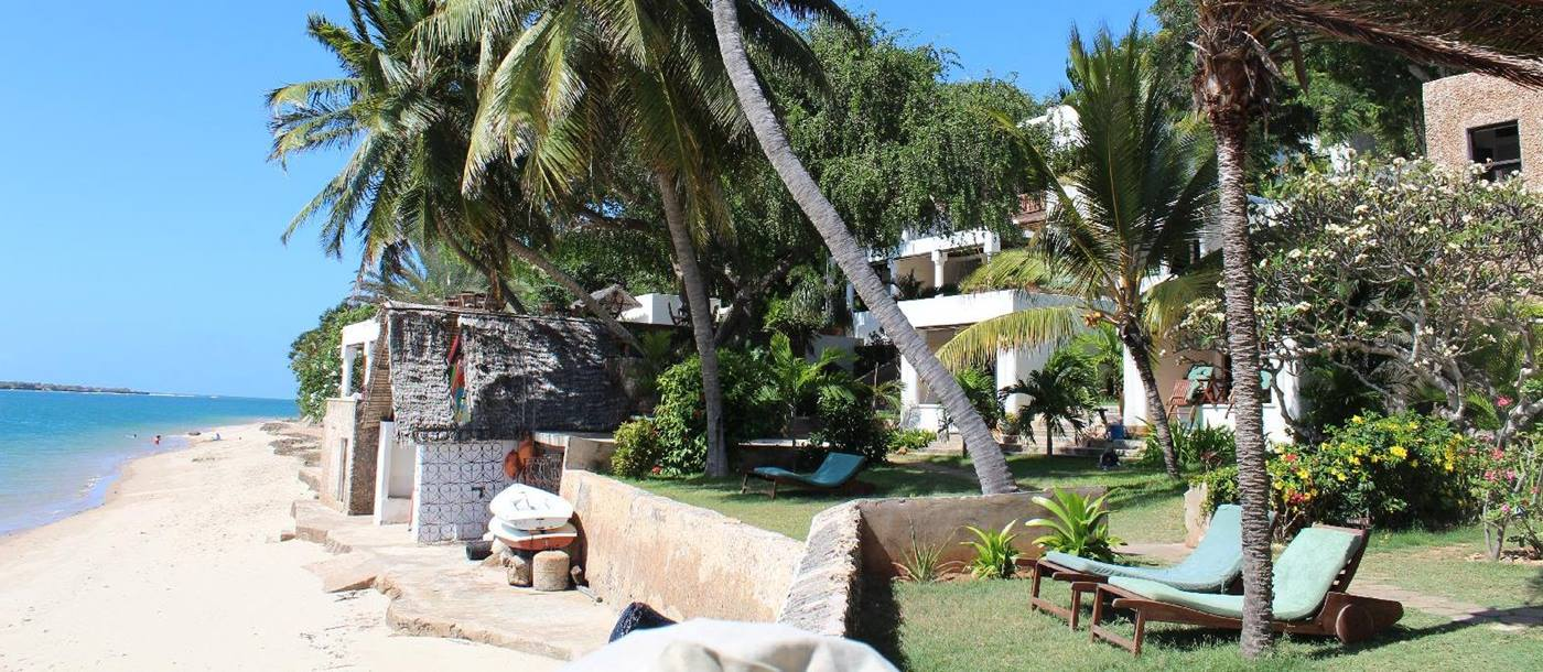 the beach and garden of Peponi, Kenya