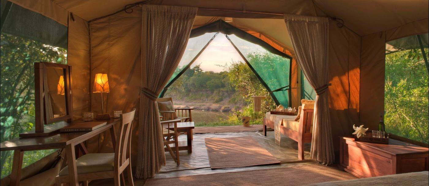 View from tent at Rekero Camp in Kenya