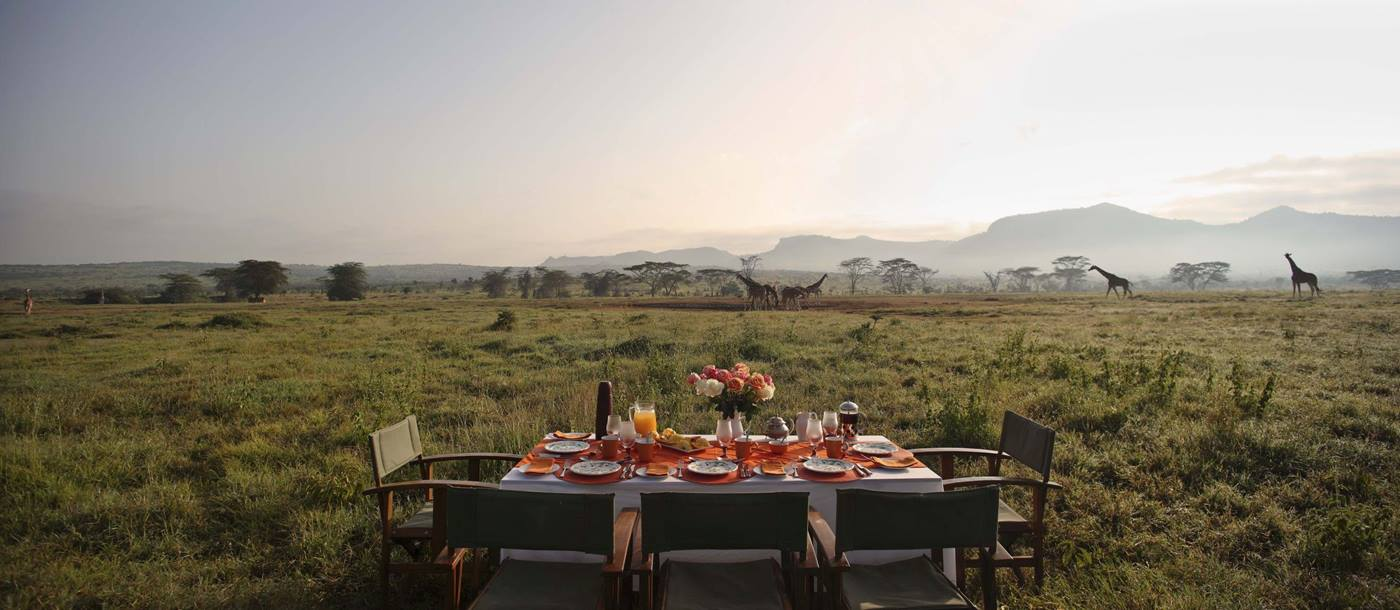 Breakfast on the plains at Enasoit in Kenya