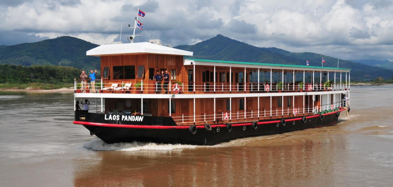 sailing of the pandawdeck of the pandaw, laos