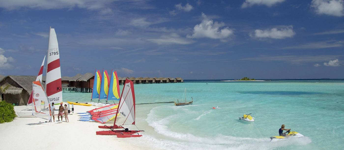 Watersports equipment at Aquafanatics at Anantara Dhigu