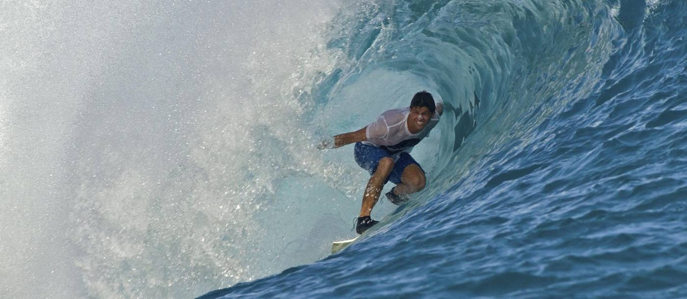 Surfing at Anantara Dhigu