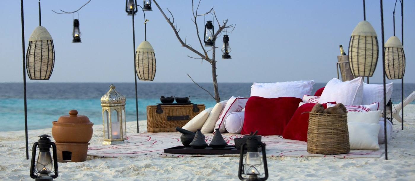 A beach picnic at Niyama, Maldives