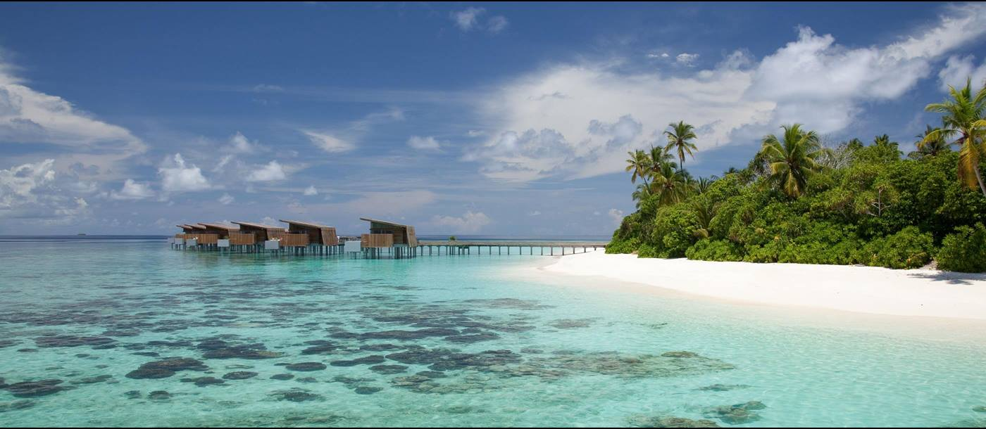 Water villas and beach of Park Hyatt Maldives