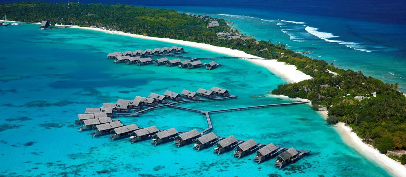 The water villas of Shangri La Villingili, Maldives