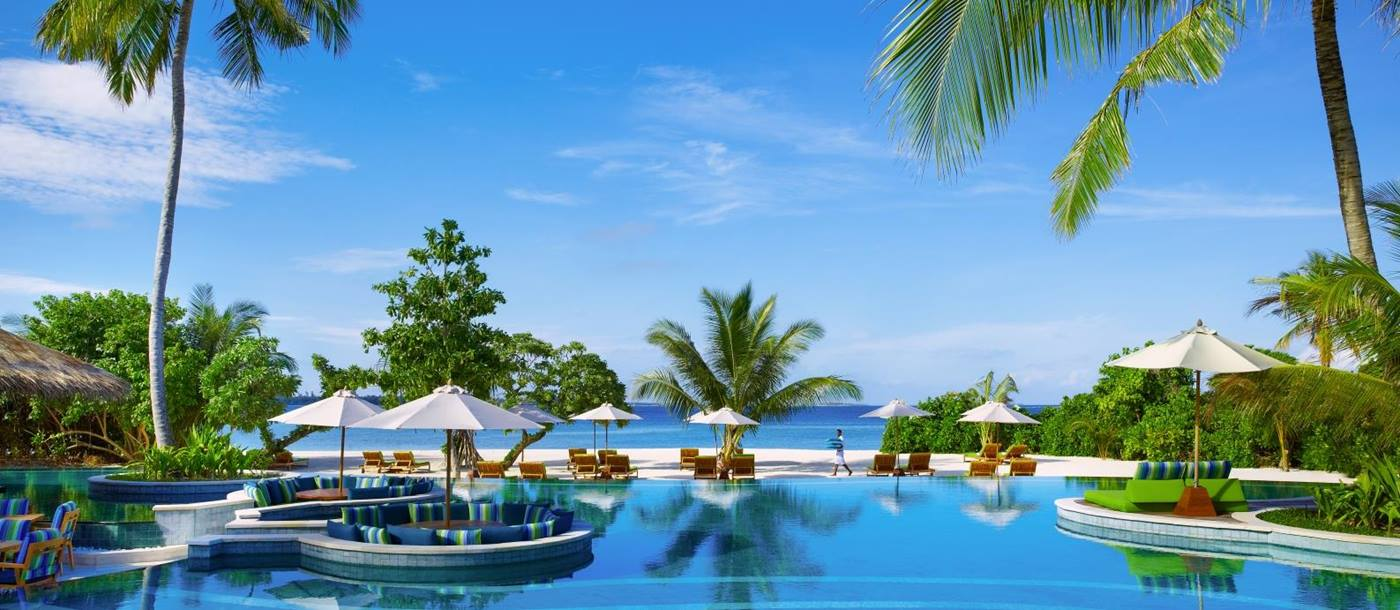 Main swimming pool at Six Senses Laamu Maldives