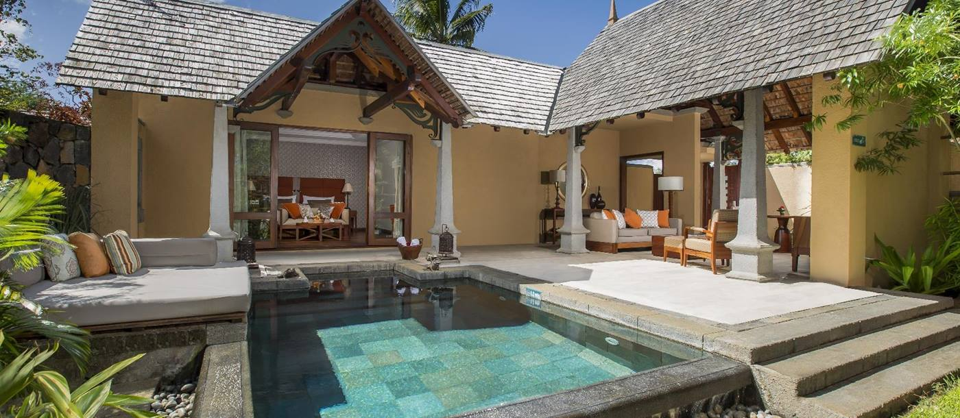 Luxury suite villa with swimming pool at Maradiva Resort, mauritius
