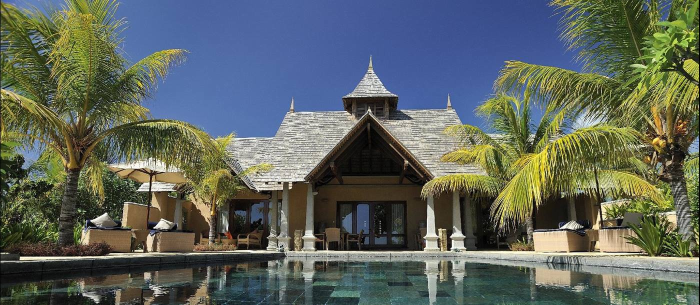 Exterior of presidential suite of Maradiva Resort, mauritius