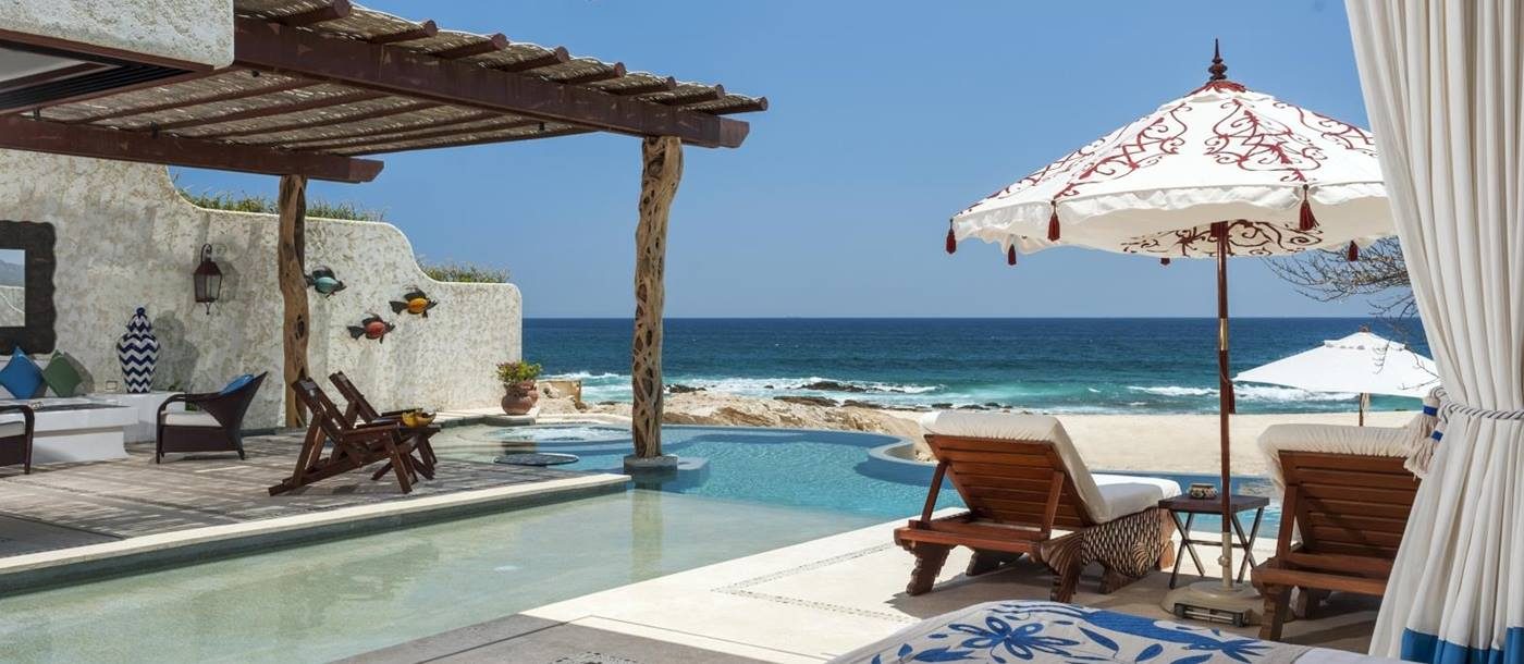 Private pool at Rosewood Las Ventanas in Mexico