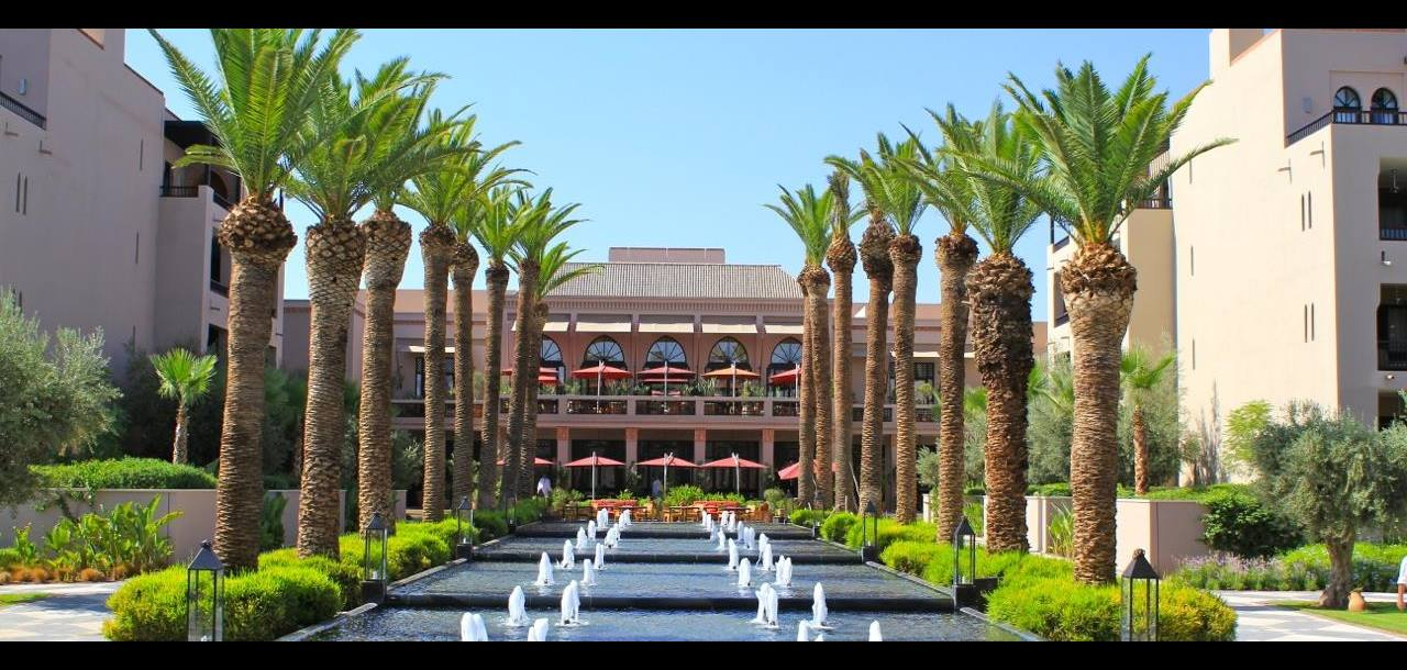 The grand gardens of the Four Seasons Marrakech