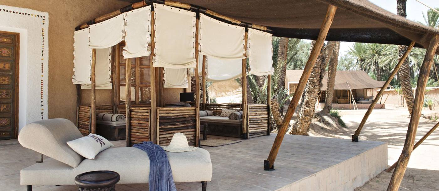 Outdoor area at La Maison de l'Oasis in Morocco