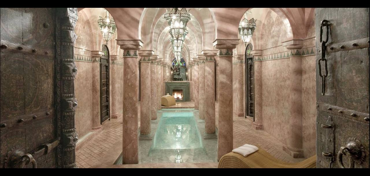 The ornate spa at La Sultana in Marrakech