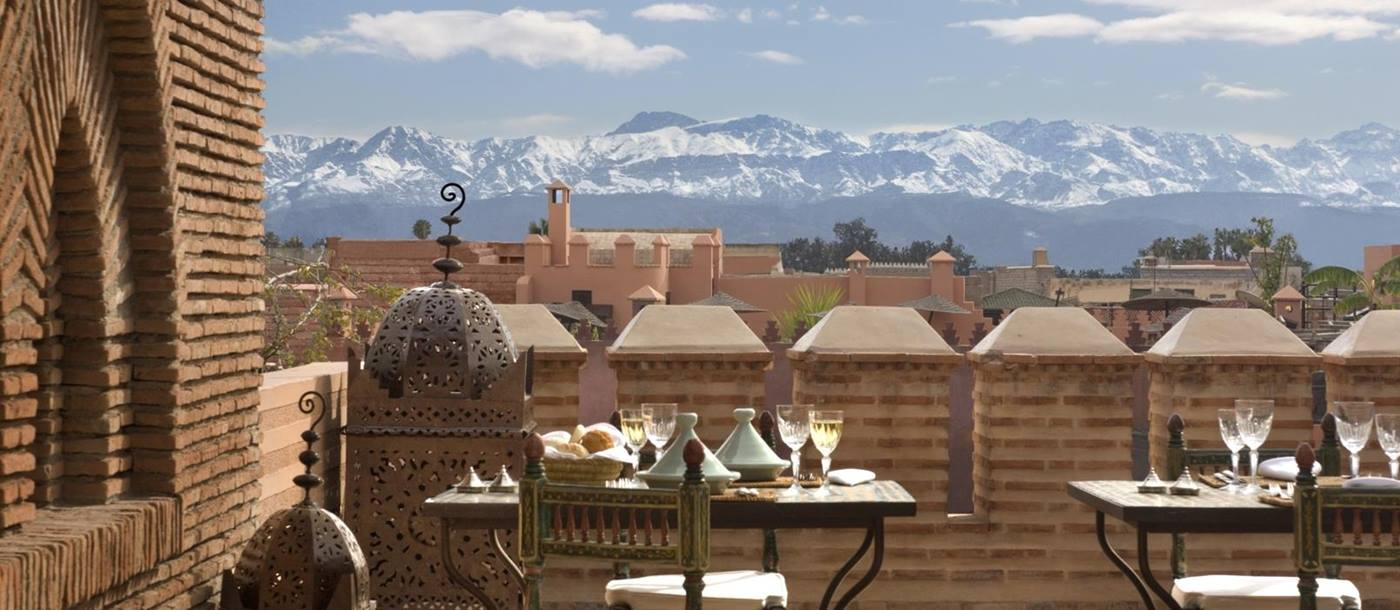 View from La Sultana in Marrakech