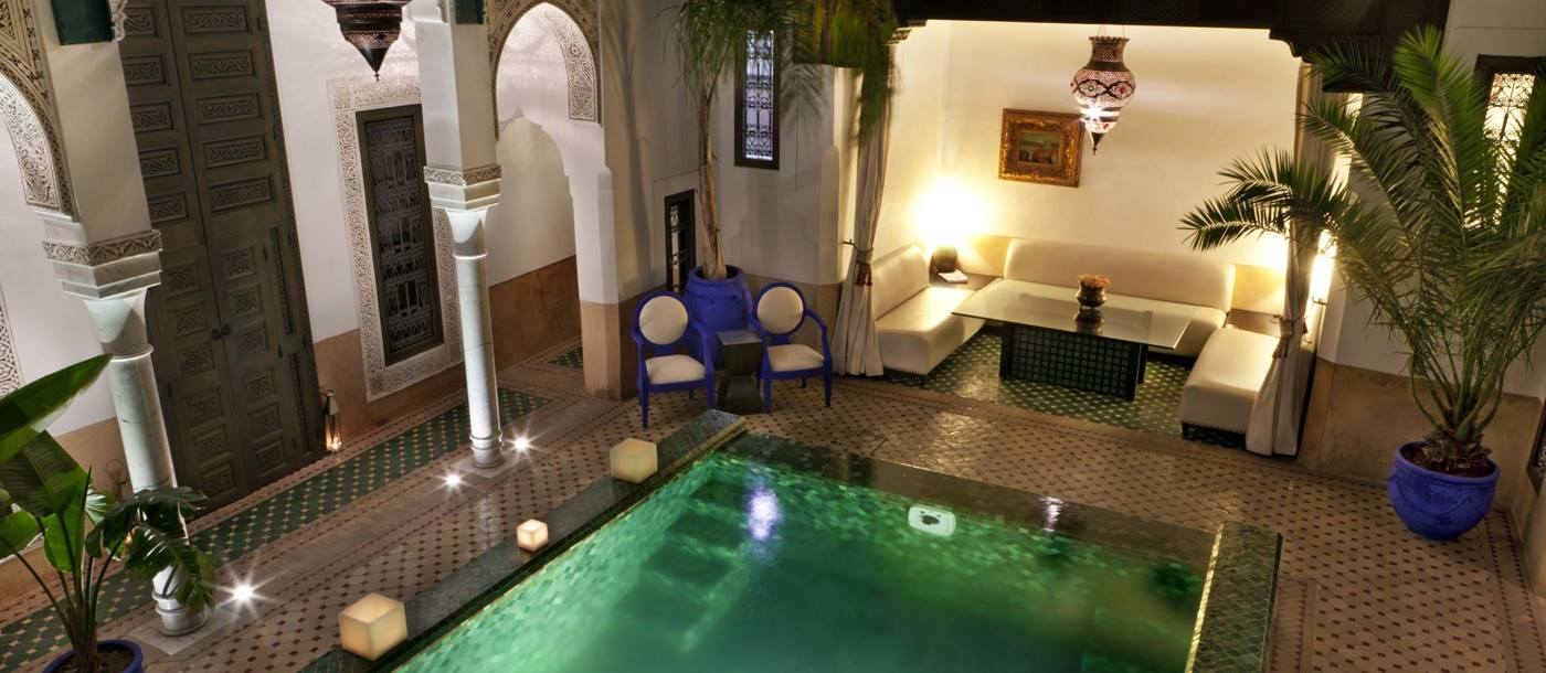 The pool at Riad Farnatchi