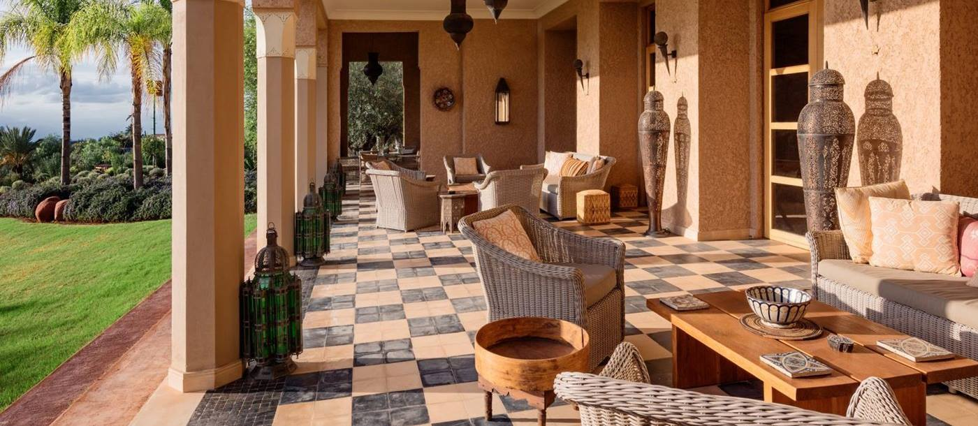 the terrace at the villa