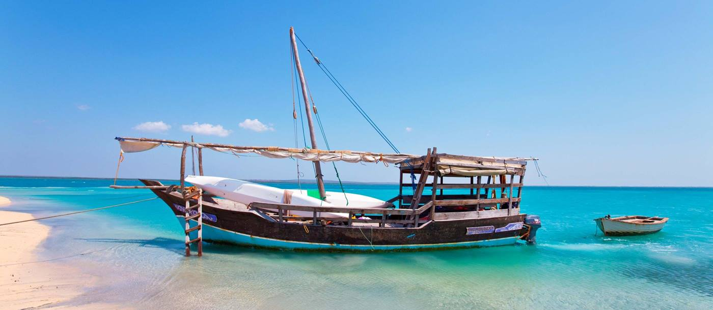 A traditional dhow at Ibo Island Lodge