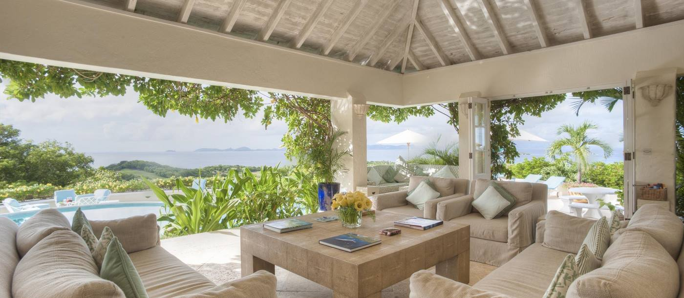 Sitting area of Cactus Hill, Mustique