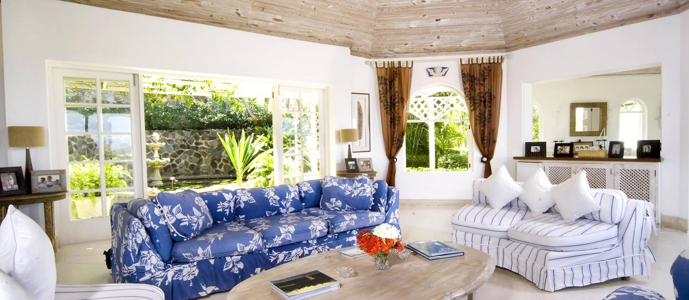 Living area of Callaloo, Mustique