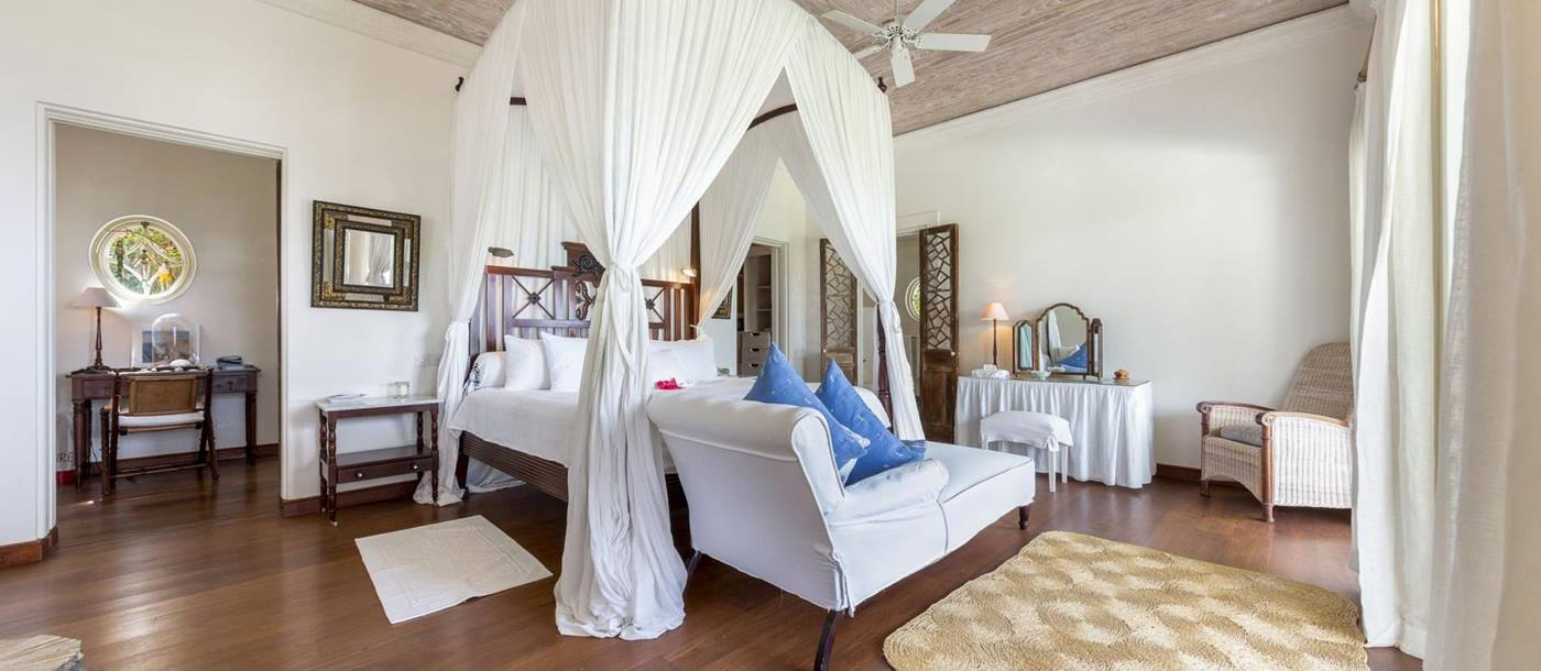 Double bedroom of Ilanga, Mustique