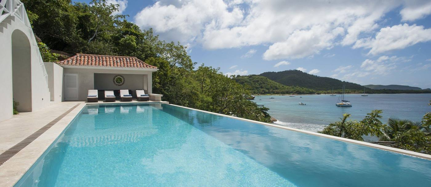 Swimming pool of Messelia, Mustique