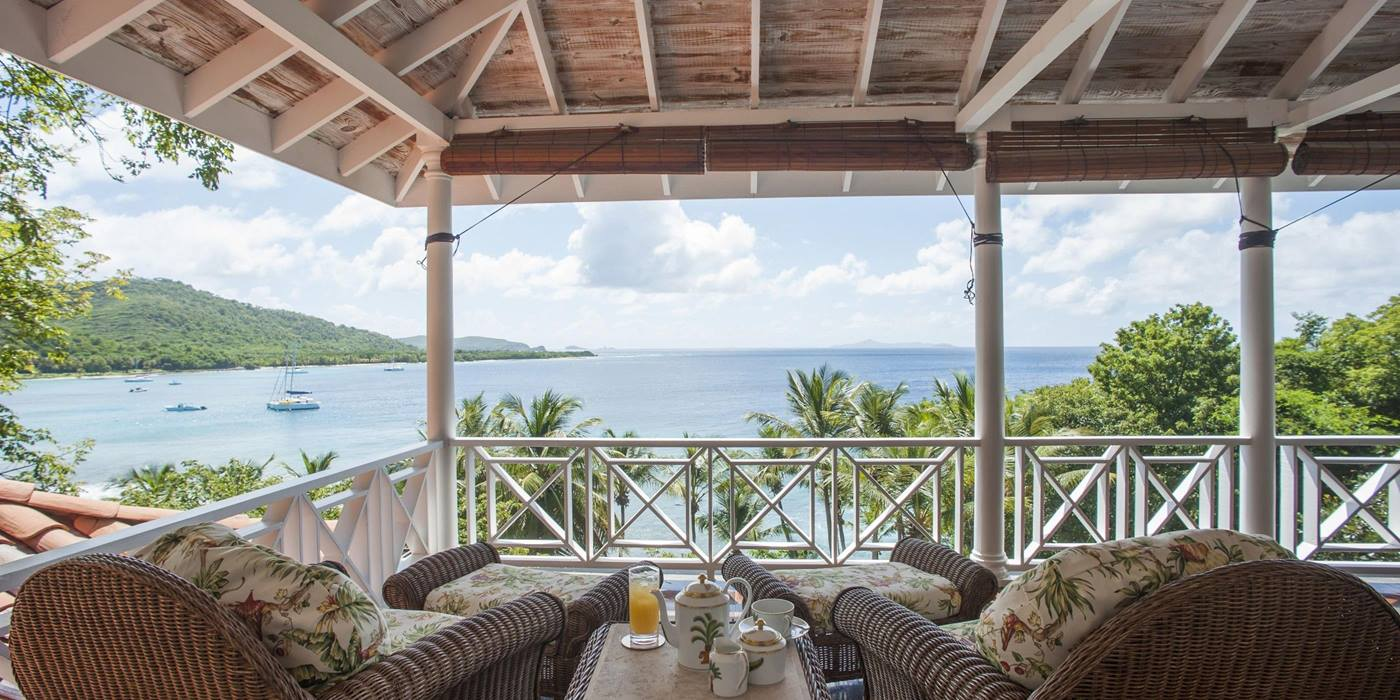 Balcony of Messelia, Mustique
