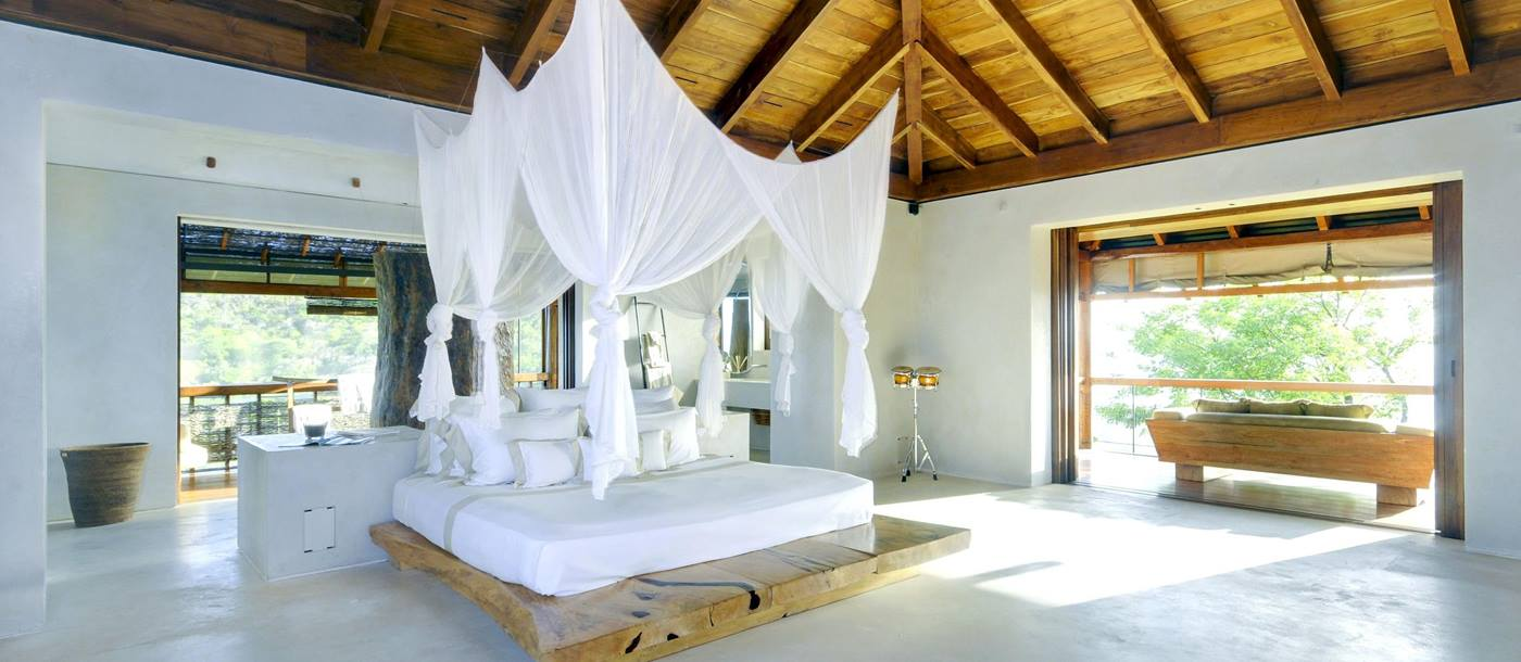 Double bedroom of Opium, Mustique