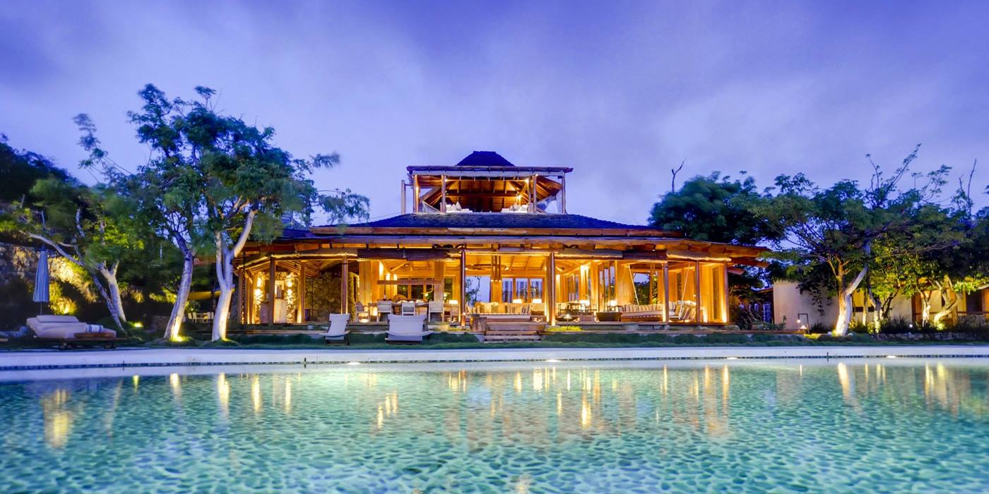 Exteriors and pool of Opium, Mustique