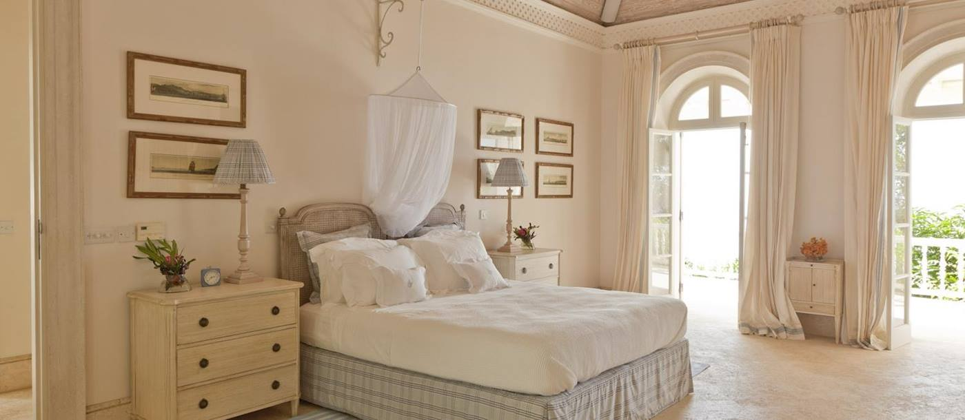 Double bedroom in Plantation House, Mustique