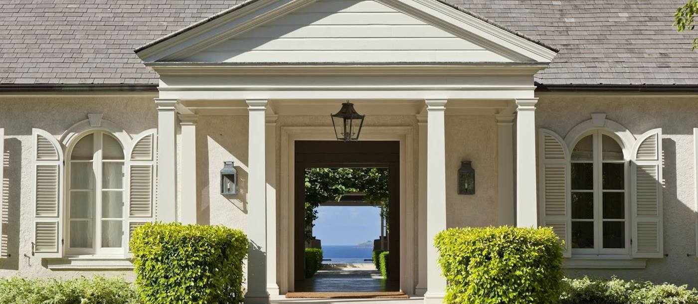 Entrance of Plantation House, Mustique