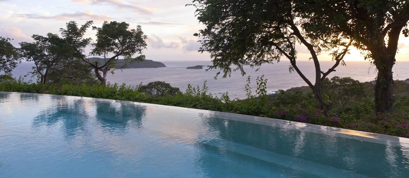 Swimming pool with view from Salamander, Mustique