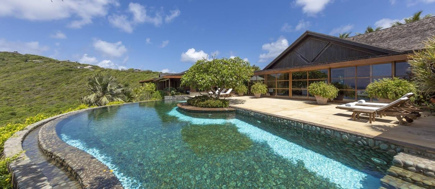 Pool Area at Serenissima in Mustique