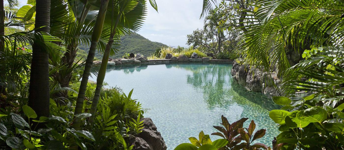 Pool and gardens of Shogun, Mustique
