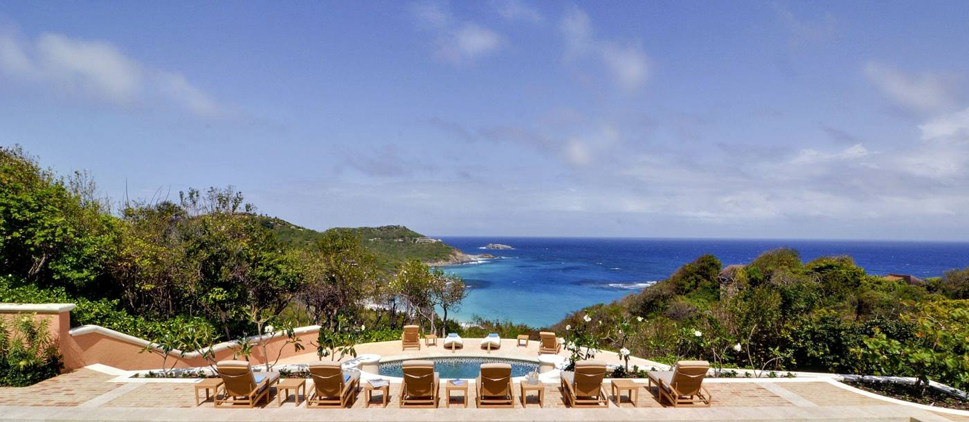View from the swiimming pool of Sienna, Mustique