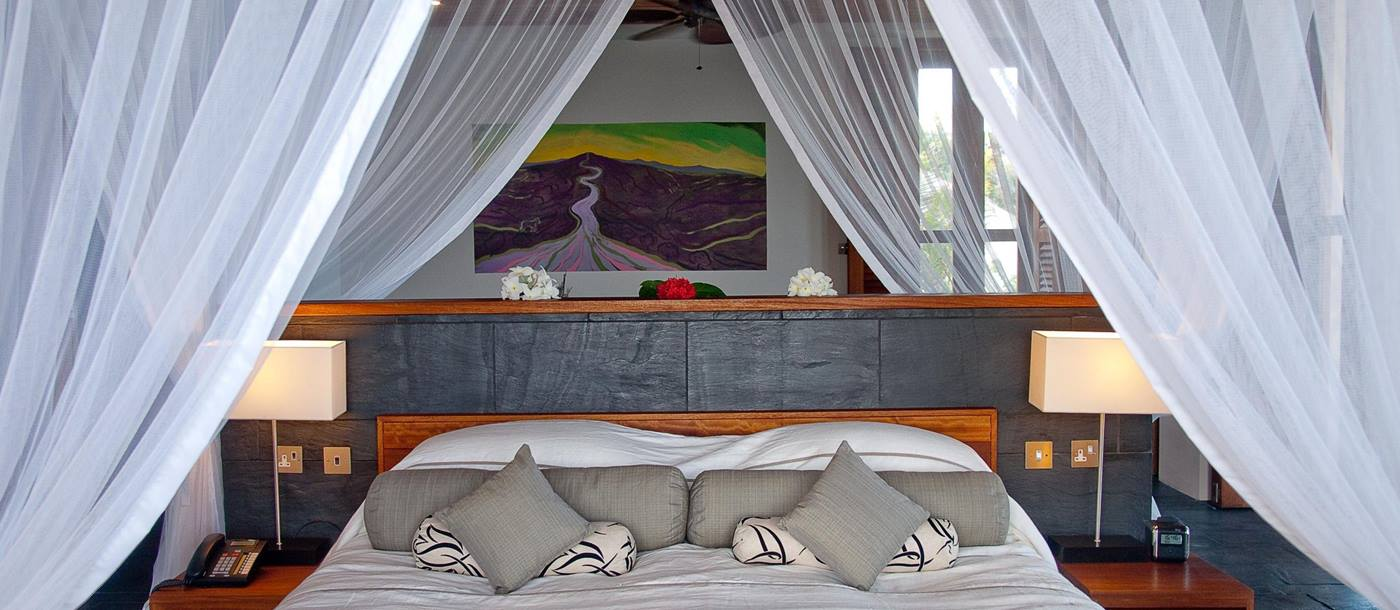 Double bedroom in Taliesin, Mustique