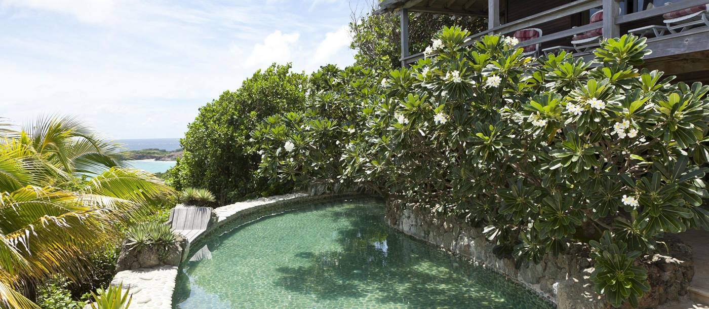 Swimming pool of White Cedars, Mustique