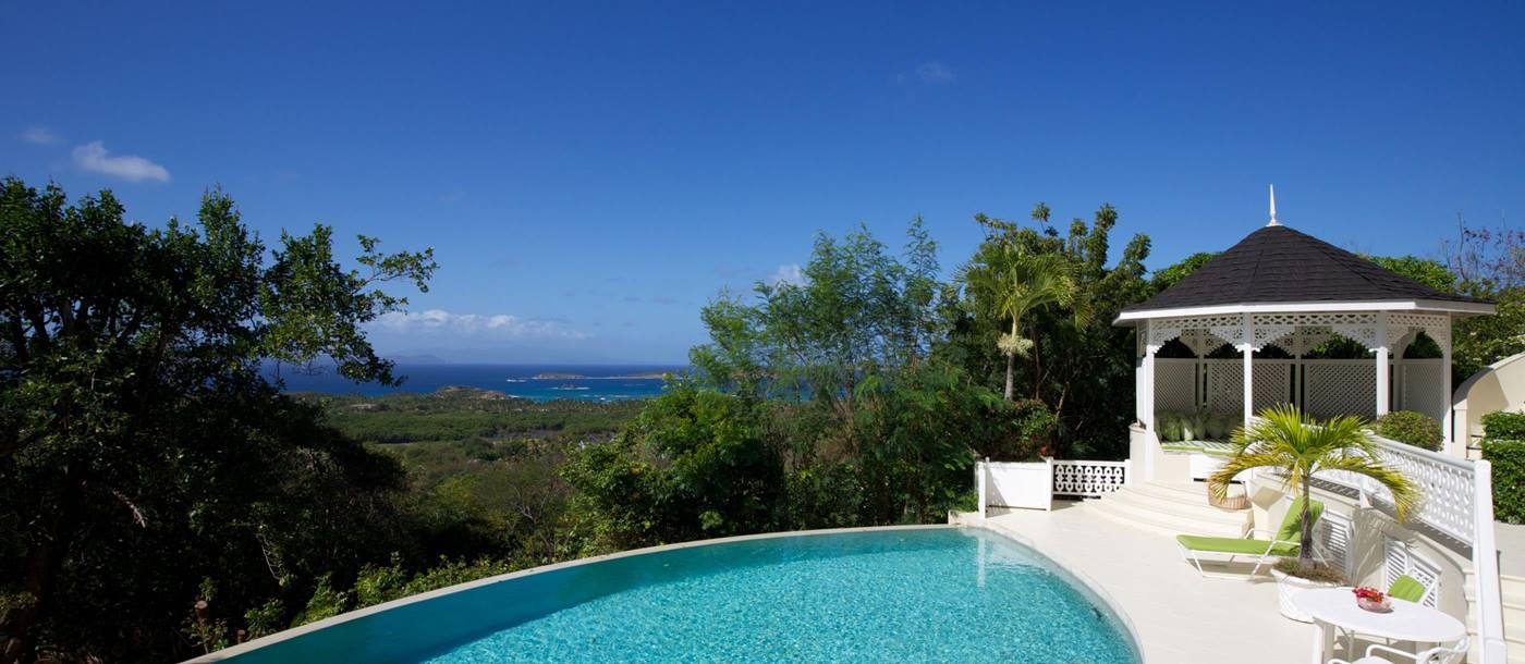 Swimming pool of Zinnia, Mustique