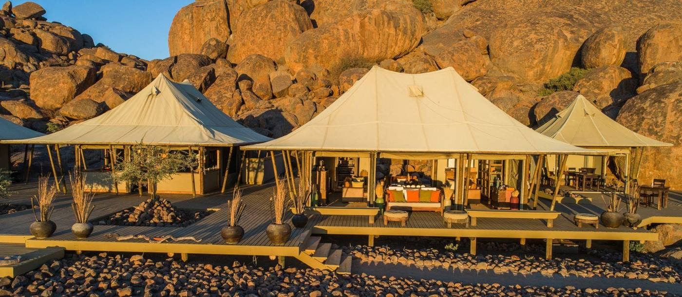 Central area at Wolwedans Boulders Camp in Namibia