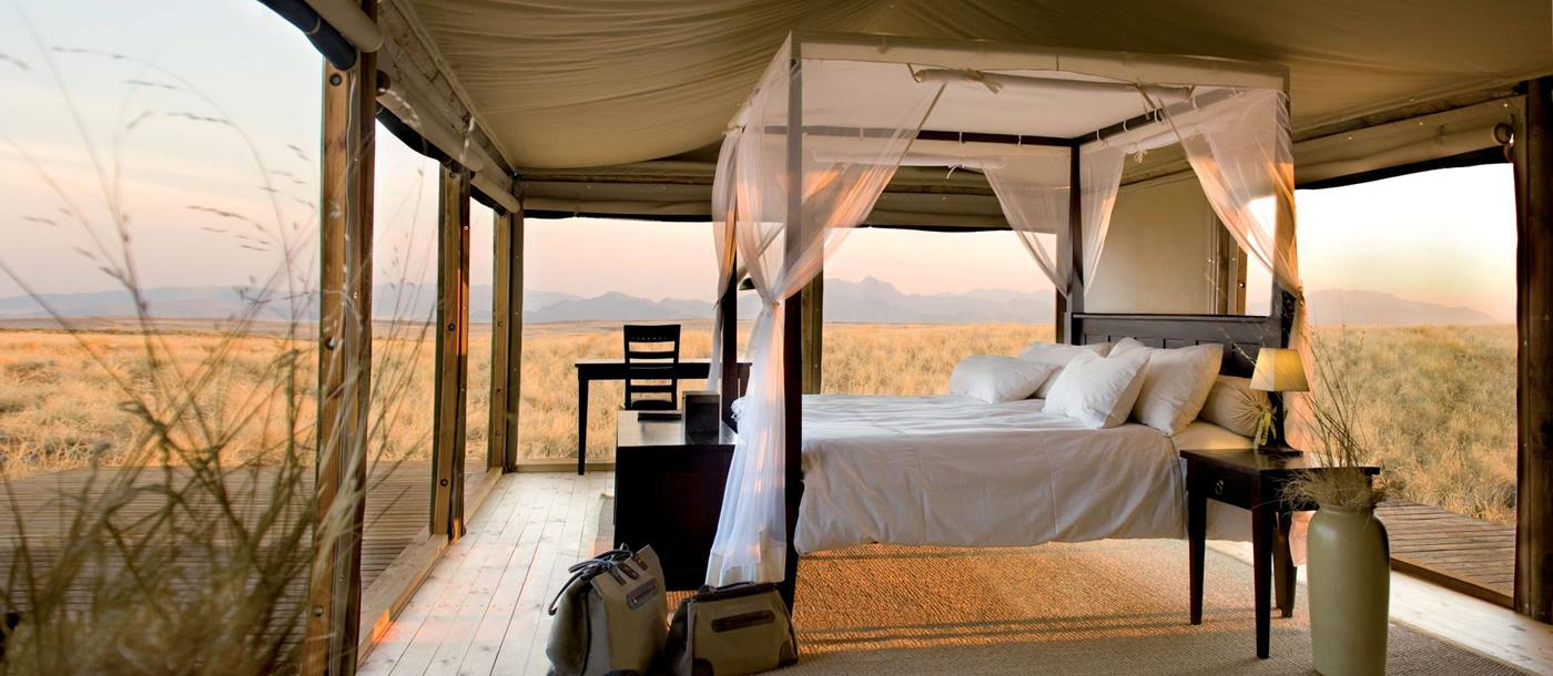 A bedroom at Wowledans Dunes Lodge
