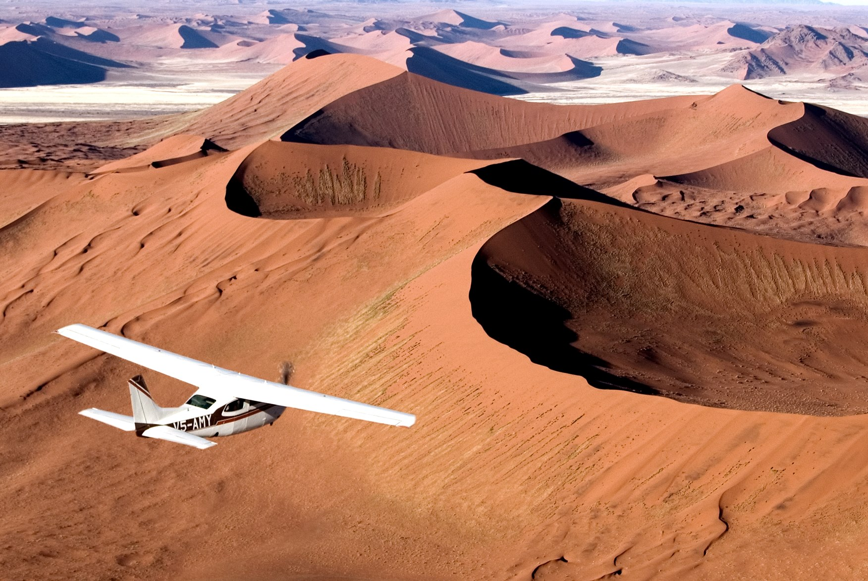 A flying safari in Namibia