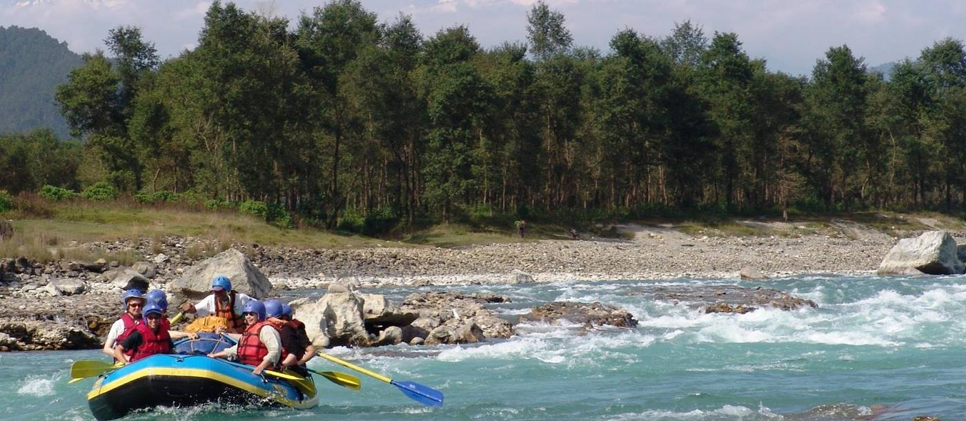 white water rafting n , Nepal