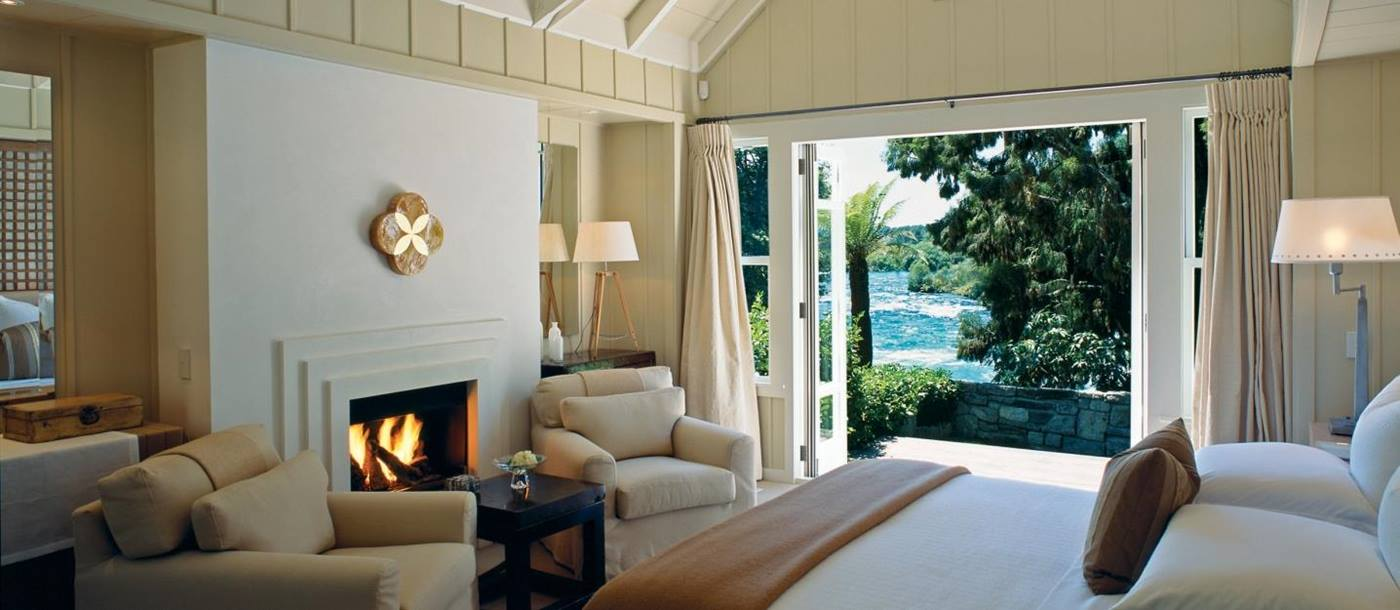 The interior of Huka Lodge, New Zealand