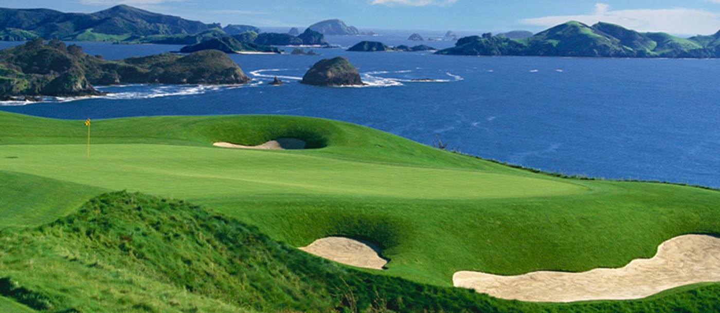 The golf course at Kauri Cliffs