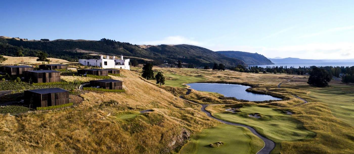 Kinloch Club New Zealand view of the whole property including golf course and individual villas