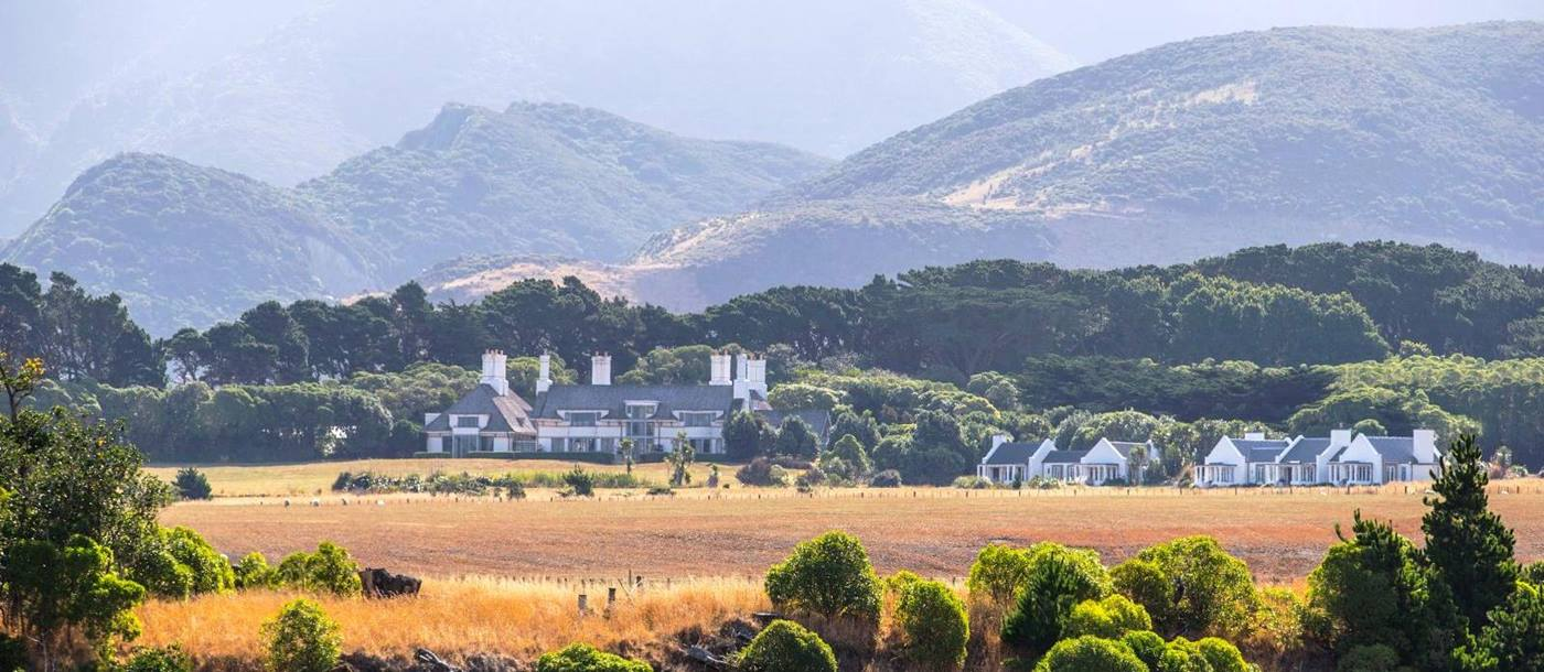 A view of Wharekauhau Country Estate on New Zealand's North Island